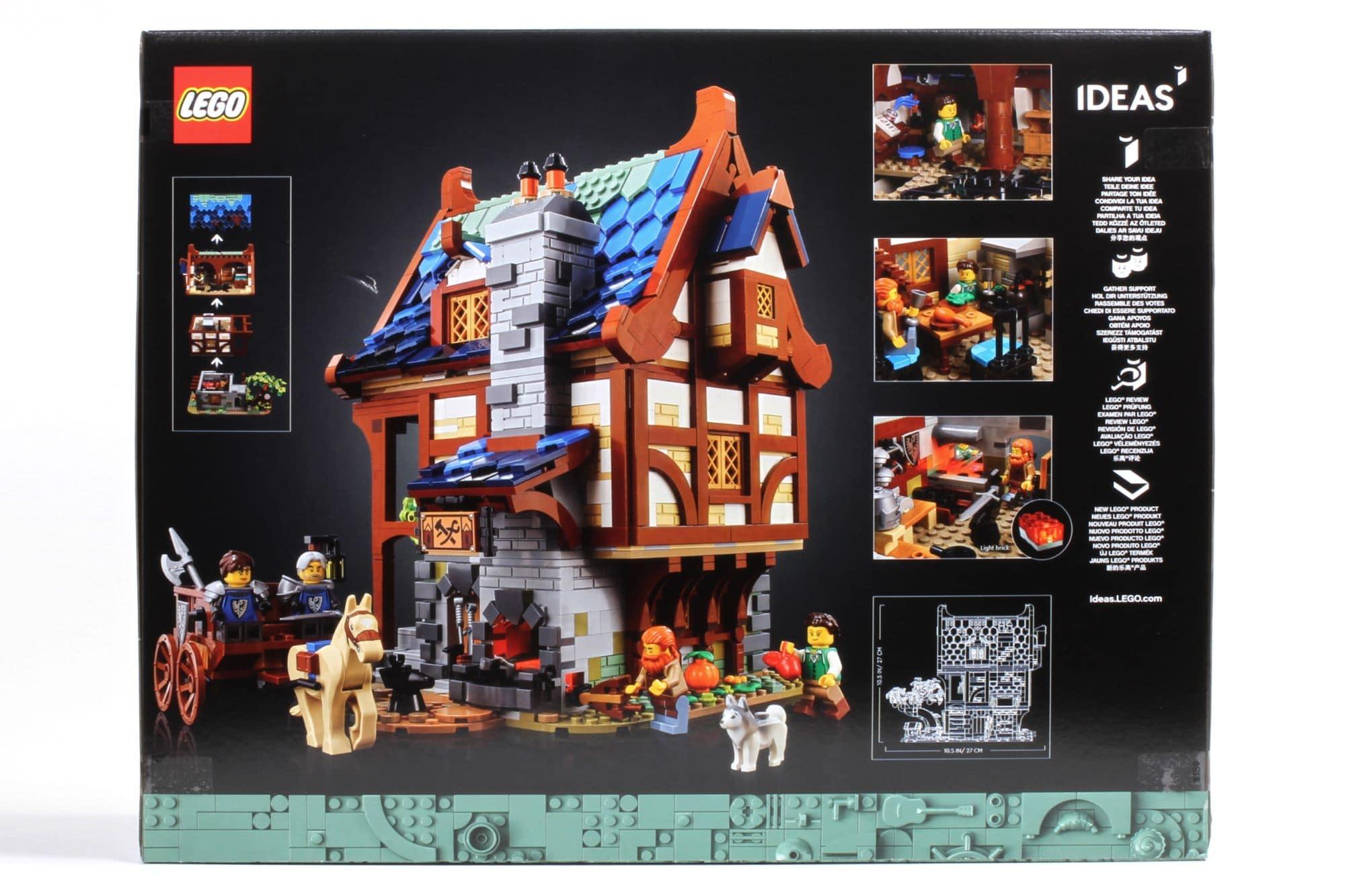 LEGO Ideas 21325 Mittelalterliche Schmiede Box 2