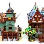 LEGO Ideas 21325 Mittelalterliche Schmiede Vergleich Angelladen 2