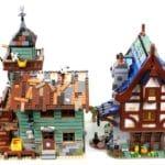 LEGO Ideas 21325 Mittelalterliche Schmiede Vergleich Angelladen 4