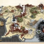 LEGO Ideas Map Of Middle Earth (1)