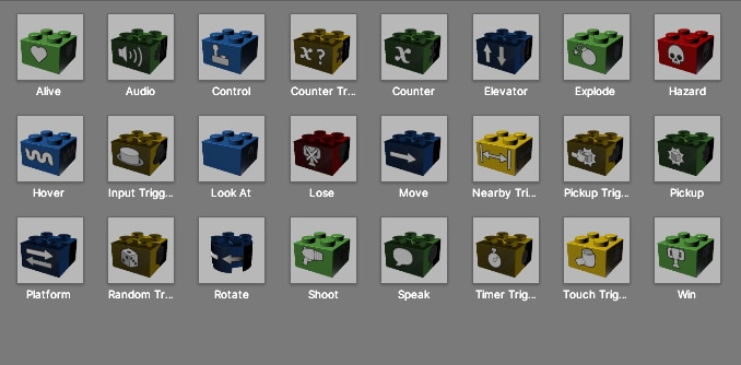 LEGO Ideas Unity Game Behavior Bricks