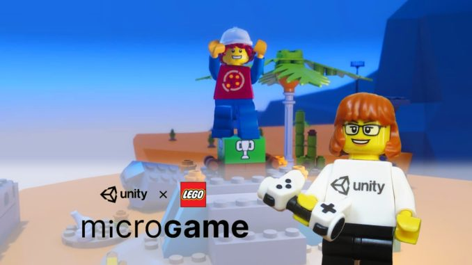 LEGO Ideas Unity Game Contest Minifigure Titel