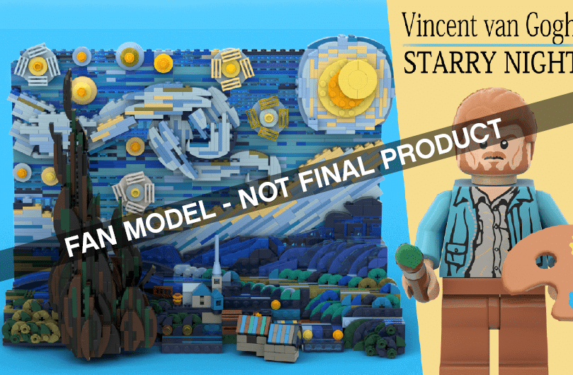 LEGO Ideas Vincent Van Gogh Starry Night