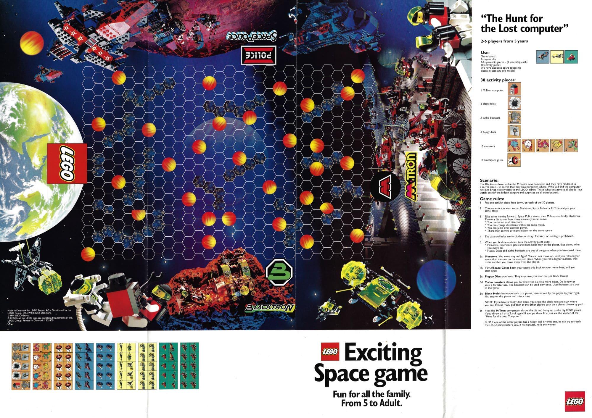 LEGO M Tron Blacktron Space Police Space Game
