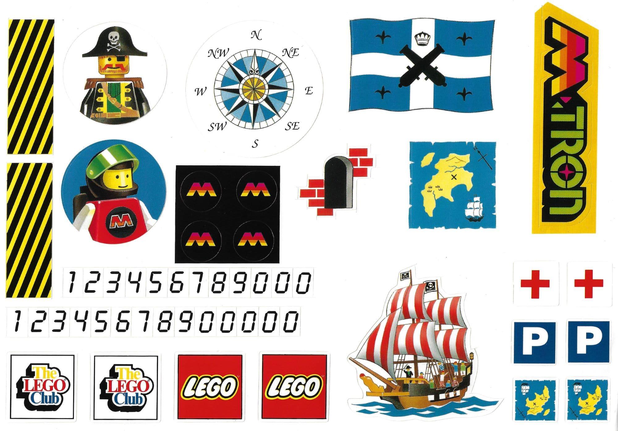 LEGO M Tron Pirates Sticker LEGO Club