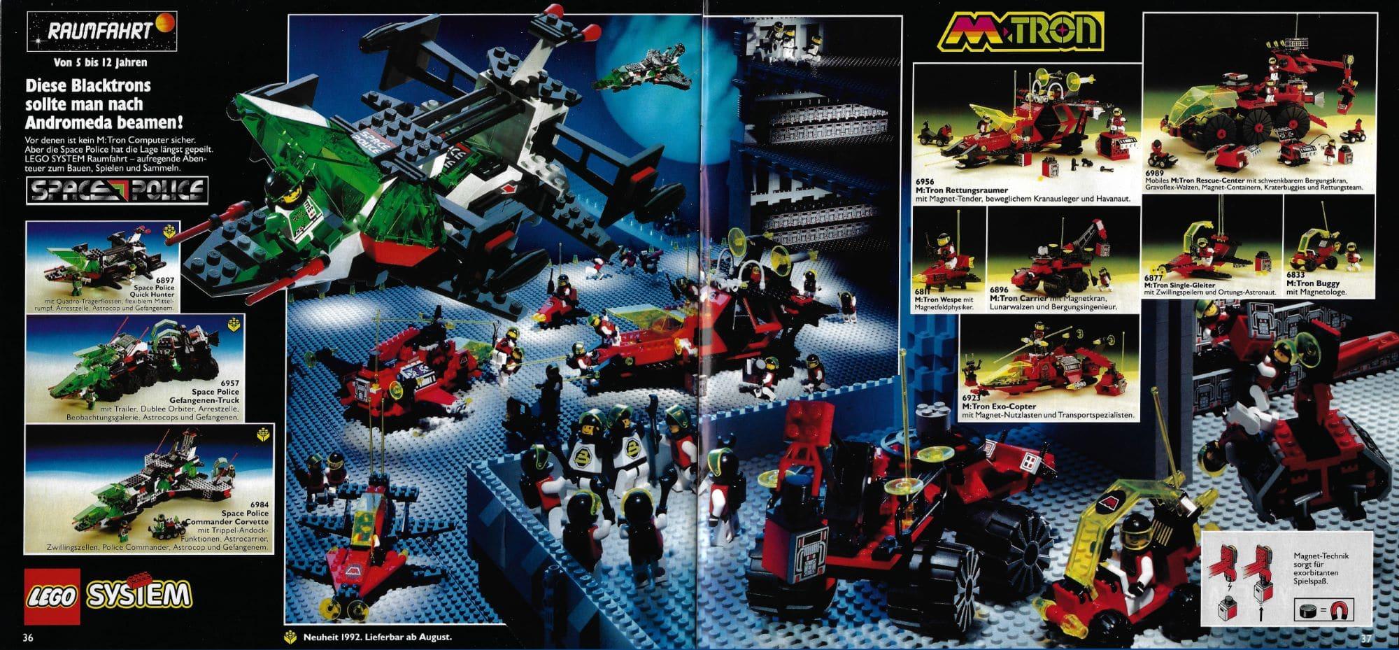 LEGO M Tron Space Police Scan Katalog 1992