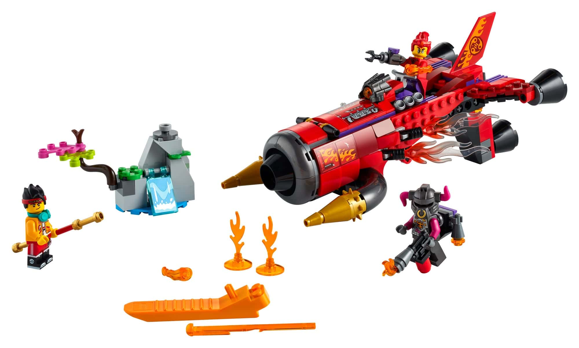 LEGO Monkie Kid 80019 Red Sons Inferno Jet 3