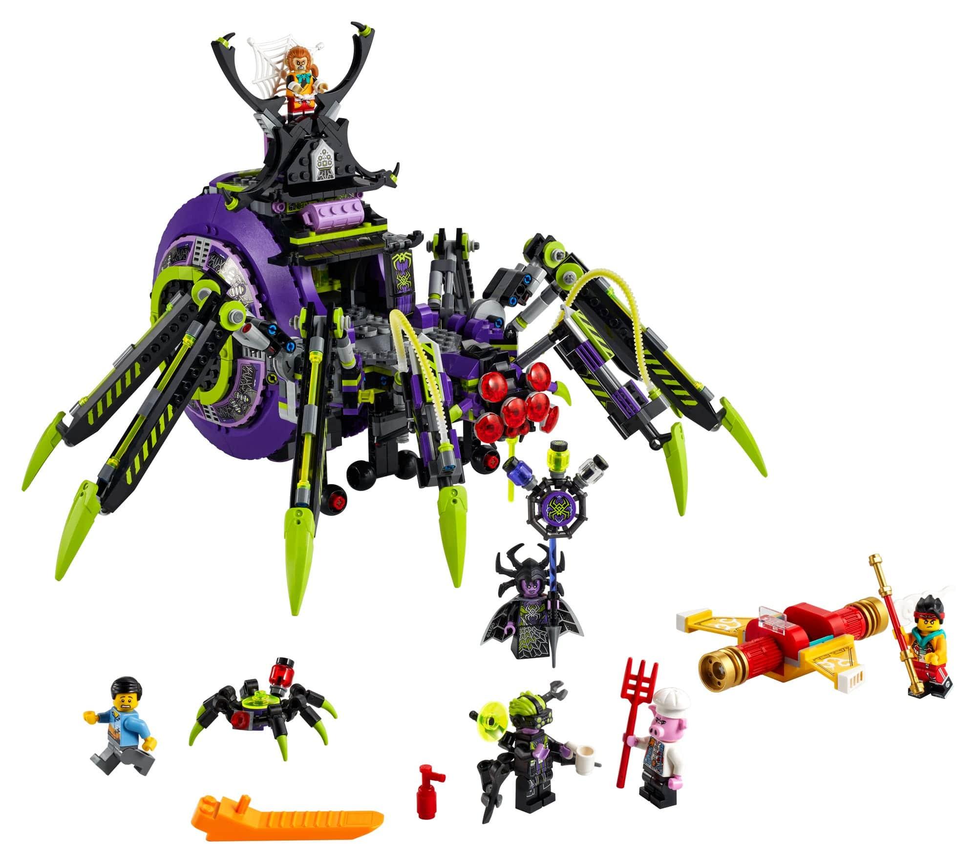 LEGO Monkie Kid 80022 Hauptquartier Der Spider Queen 2