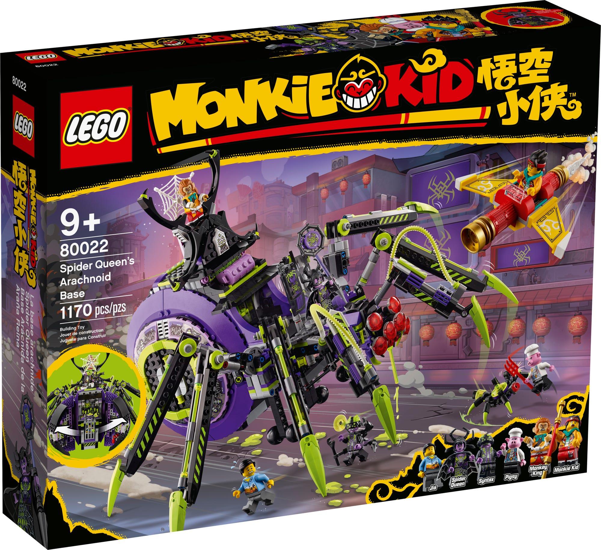 LEGO Monkie Kid 80022 Hauptquartier Der Spider Queen 3