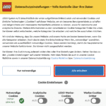 LEGO Onlineshop Cookie Abfrage 2