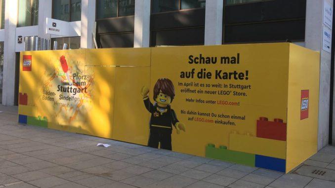 LEGO Store Stuttgart Baustelle