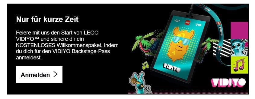 LEGO Vidiyo Willkommenspaket Vip Newsletter