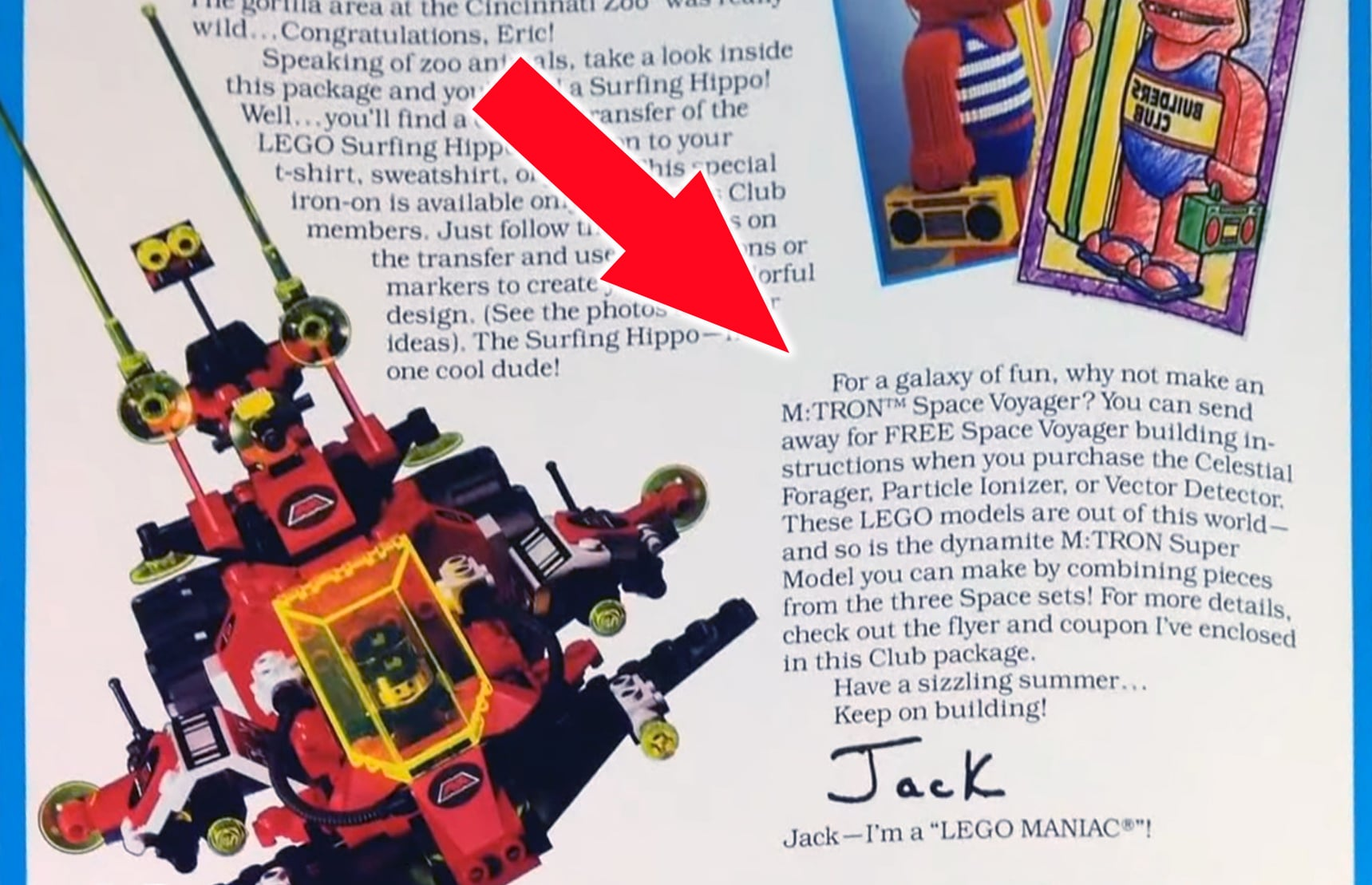 Brick Kicks 1990 Advert Instructions M Tron Super Model