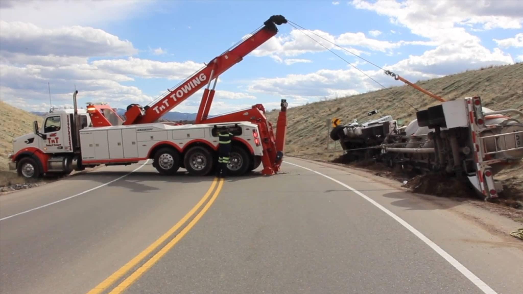 Heavy Duty Tow Truck Realer Einsatz
