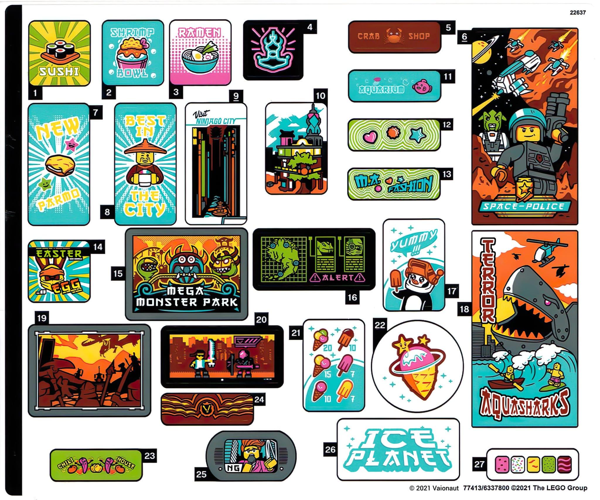 LEGO 71741 Ninjago City Gardens Sticker 1 Uebersetzung
