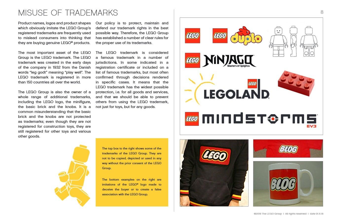LEGO Fair Play Broschuere Trademarks Beispiele