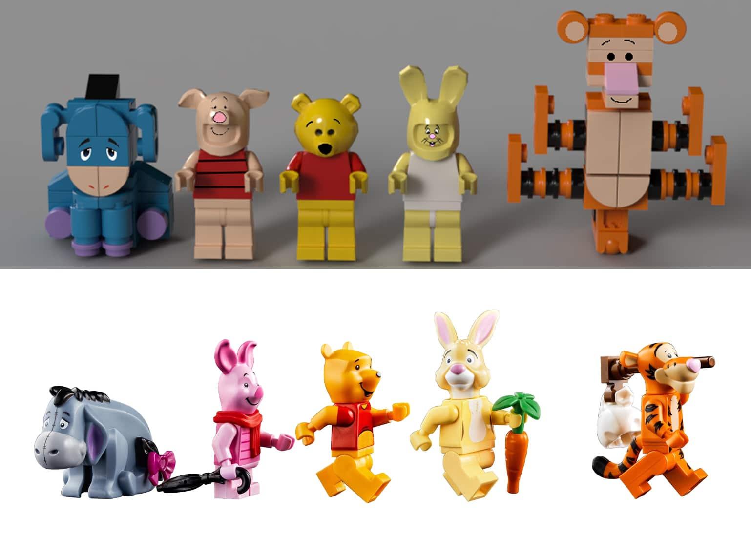 LEGO Ideas 21326 Winnie Pooh Vergleich Figuren