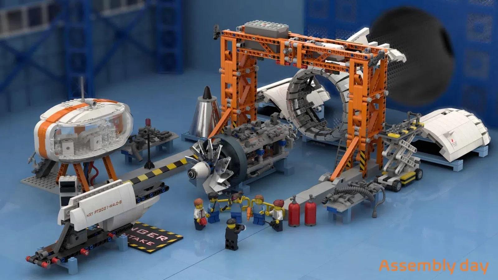 LEGO Ideas Aircraft Engine Workshop (4)