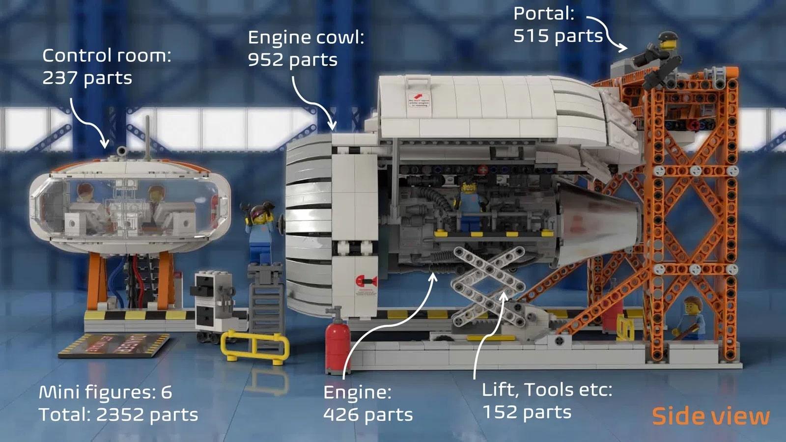 LEGO Ideas Aircraft Engine Workshop (8)
