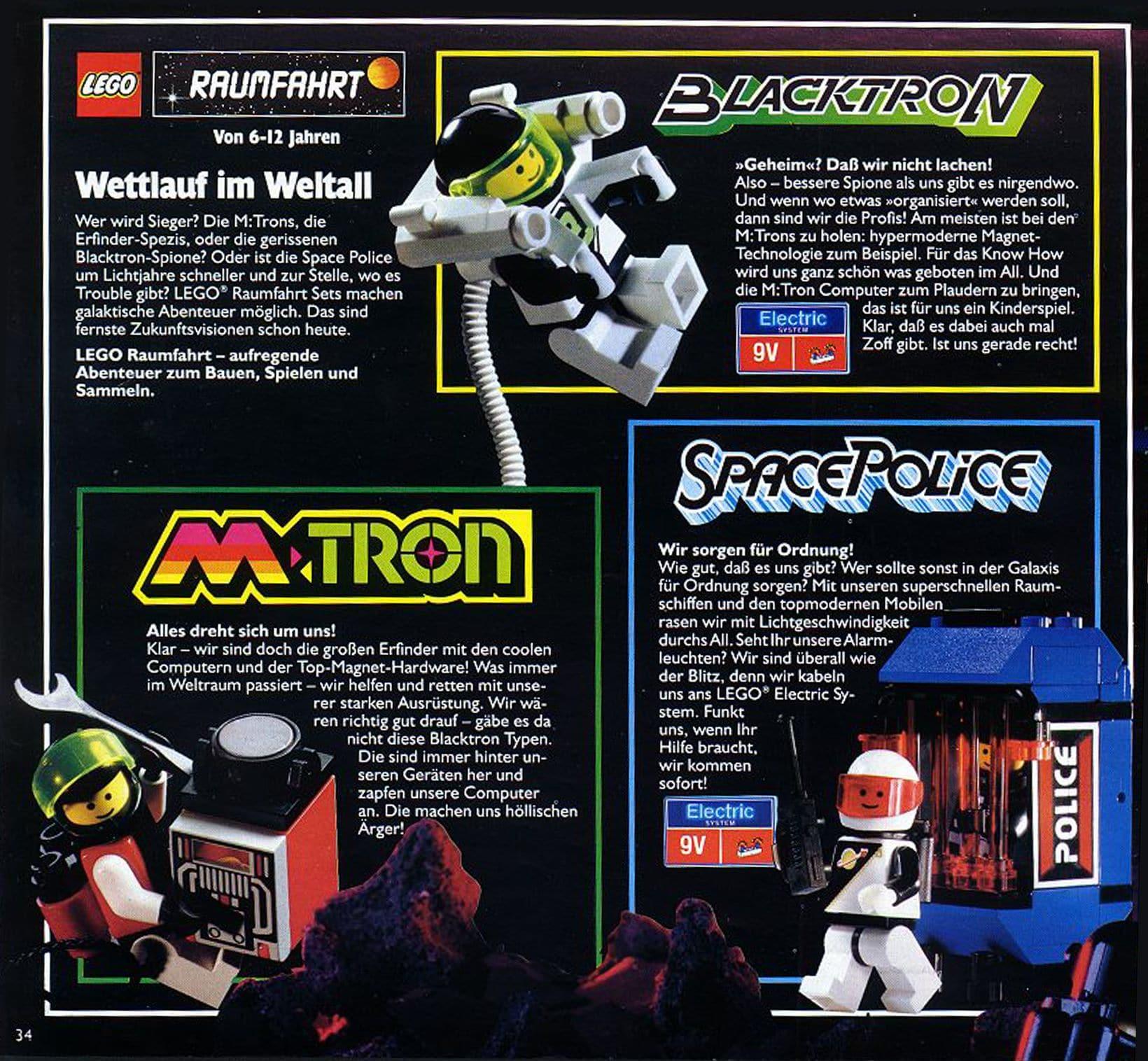 LEGO M Tron Scan Katalog Groß 1991 Übersicht Fraktionen