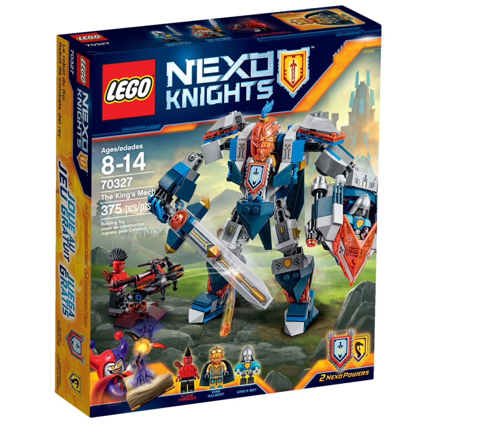 LEGO Nexo Knights 70327 Der Mech Des Koenigs Box 2016