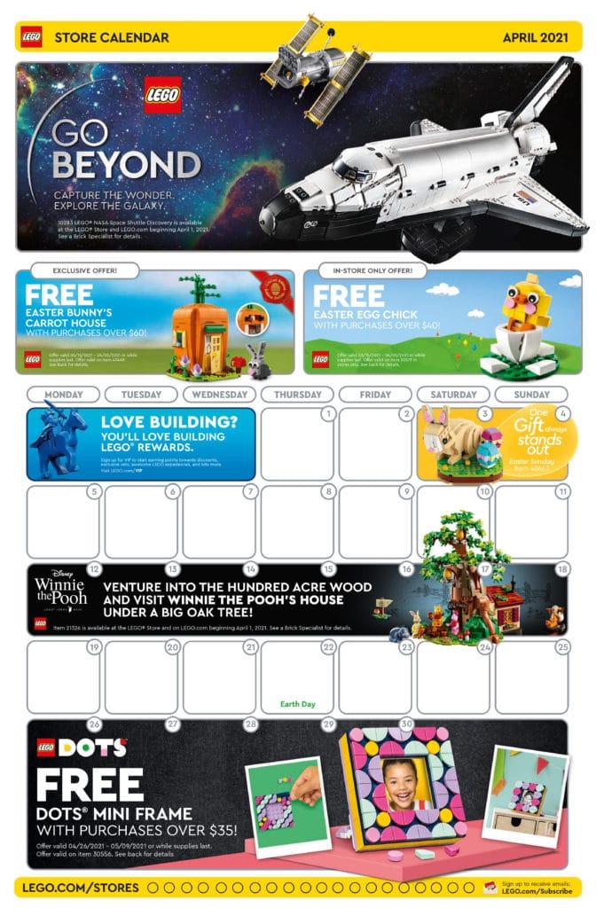 LEGO Store Flyer April 2021 Seite 1