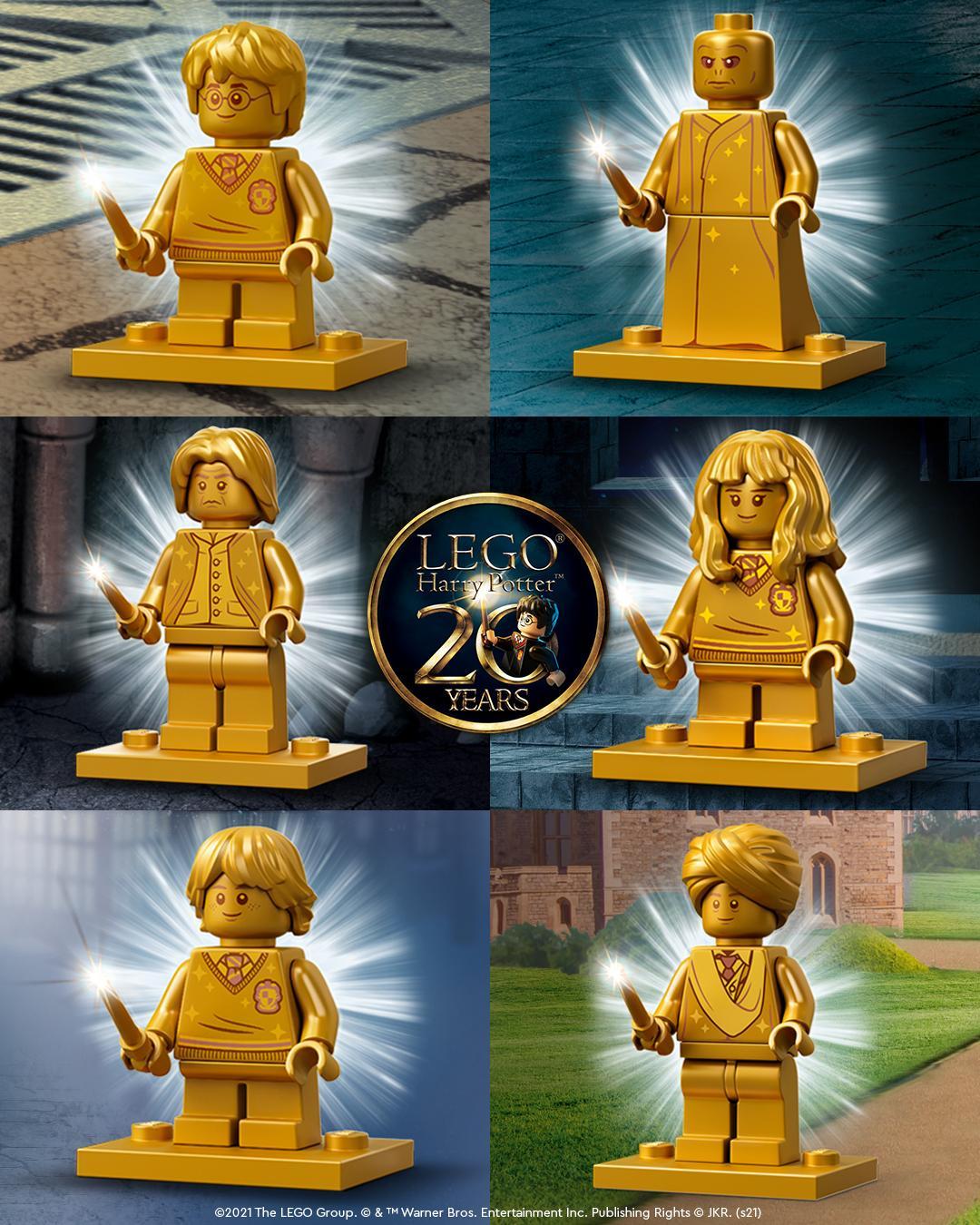 LEGO Harry Potter 20th Anniverary Goldene Figuren