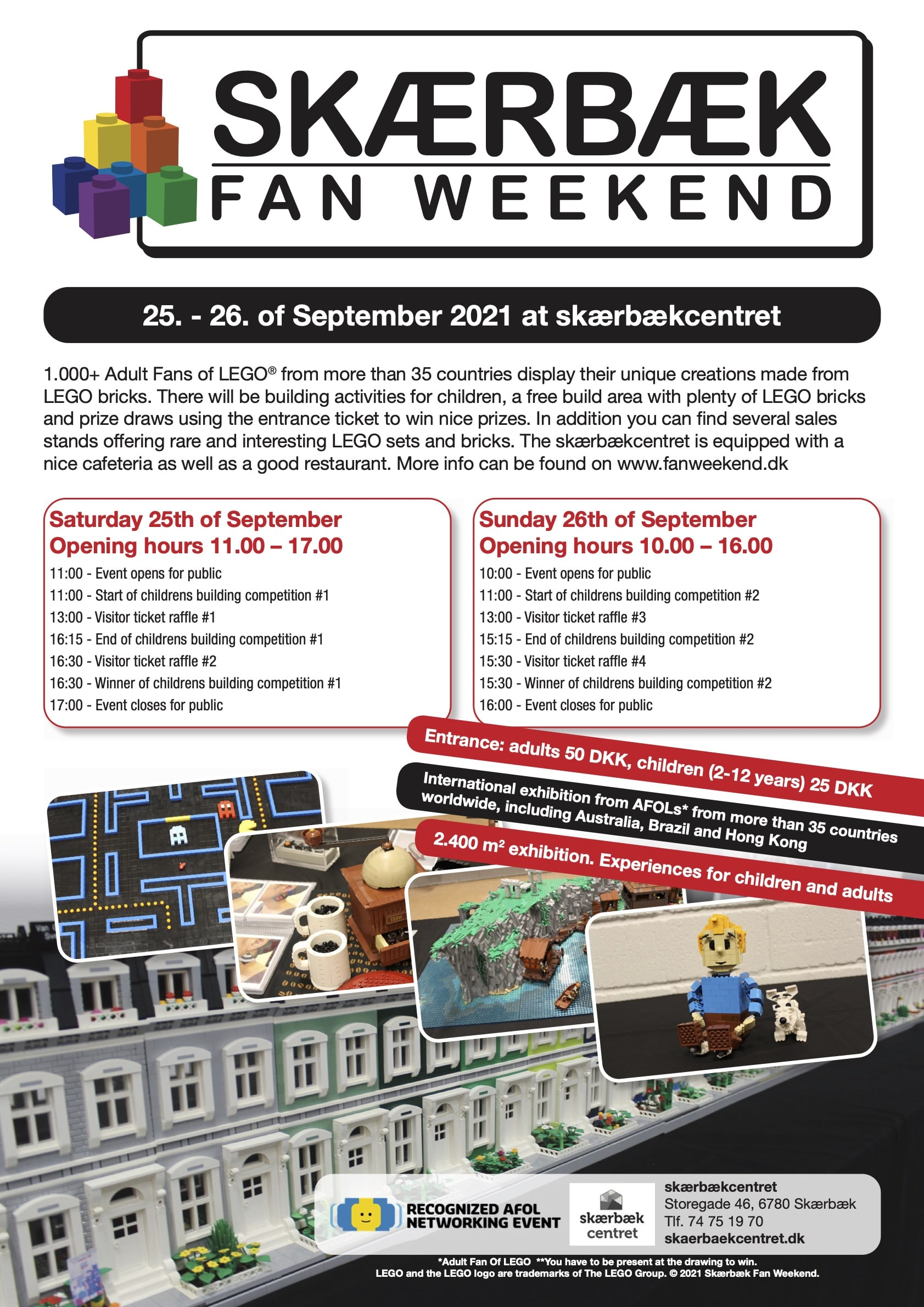 Skaerbaek Fan Weekend Poster Flyer 2021