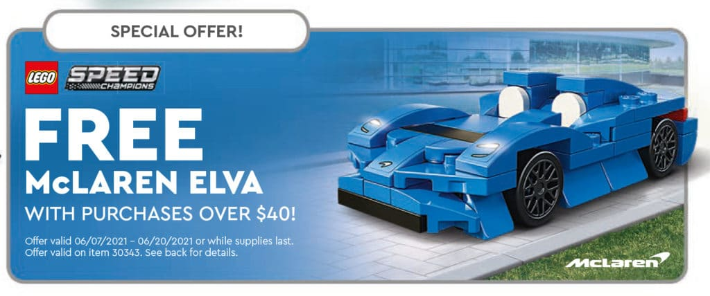 LEGO 30343 Mclaren Elva Gwp
