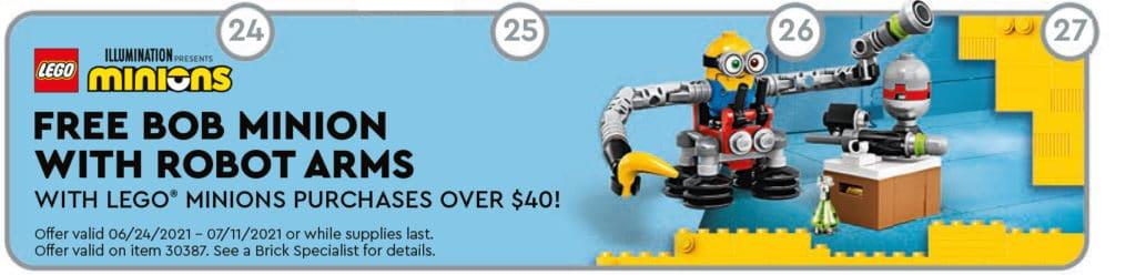 LEGO 30387 Bob Minion Robot Arms Polybag