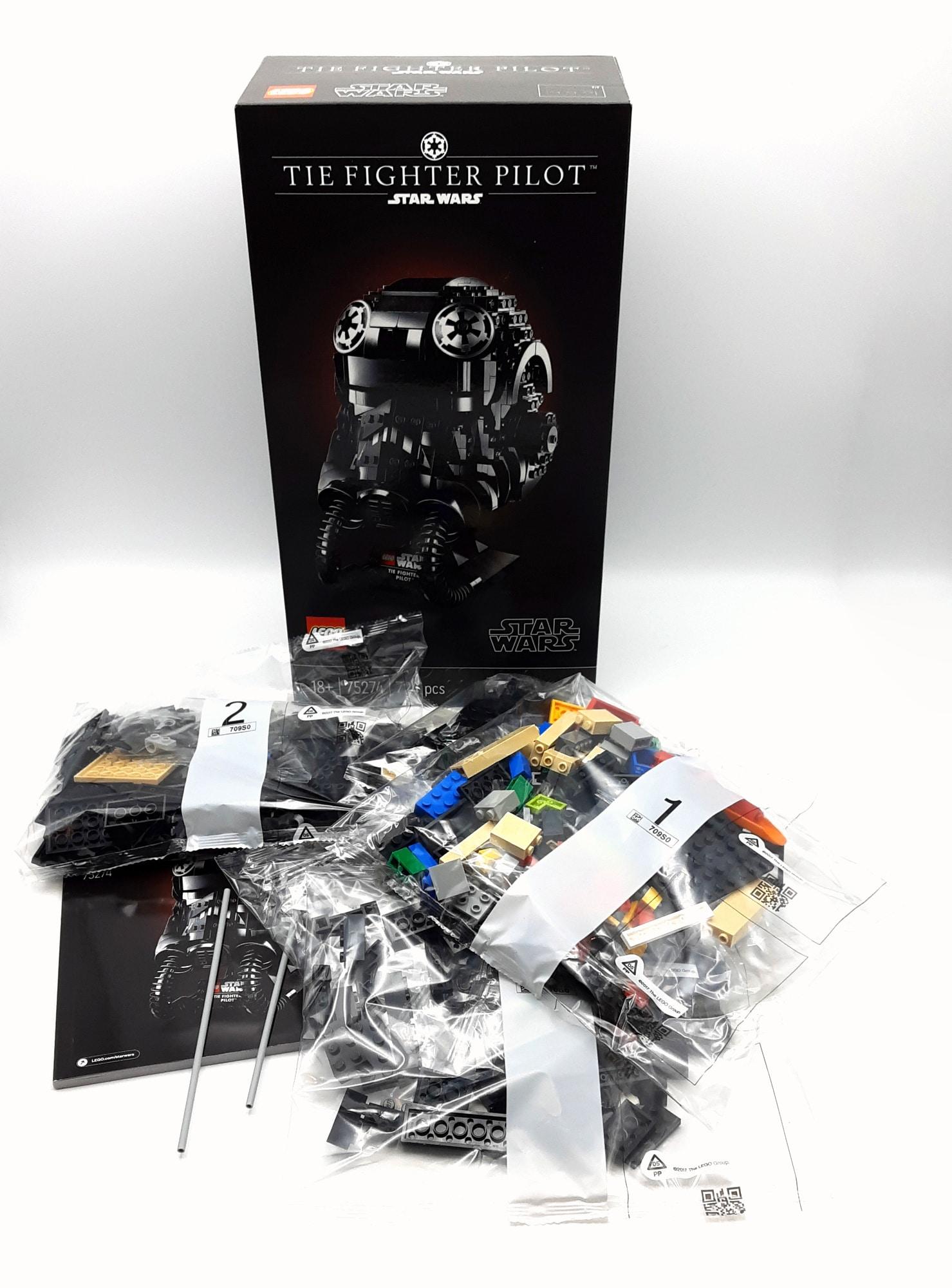 LEGO 75274 Tie Fighter Pilot Helm Box Inhalt