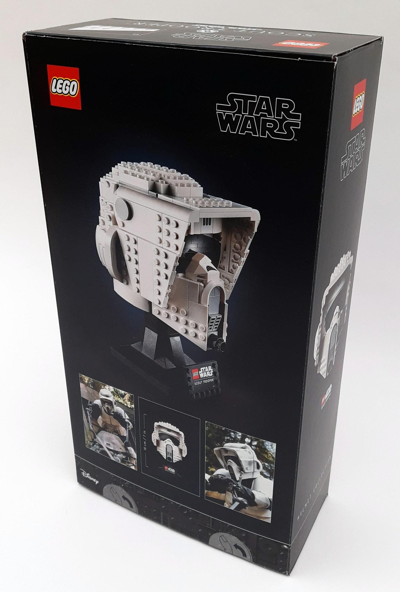 LEGO 75305 Scout Trooper Helm Box Hinten