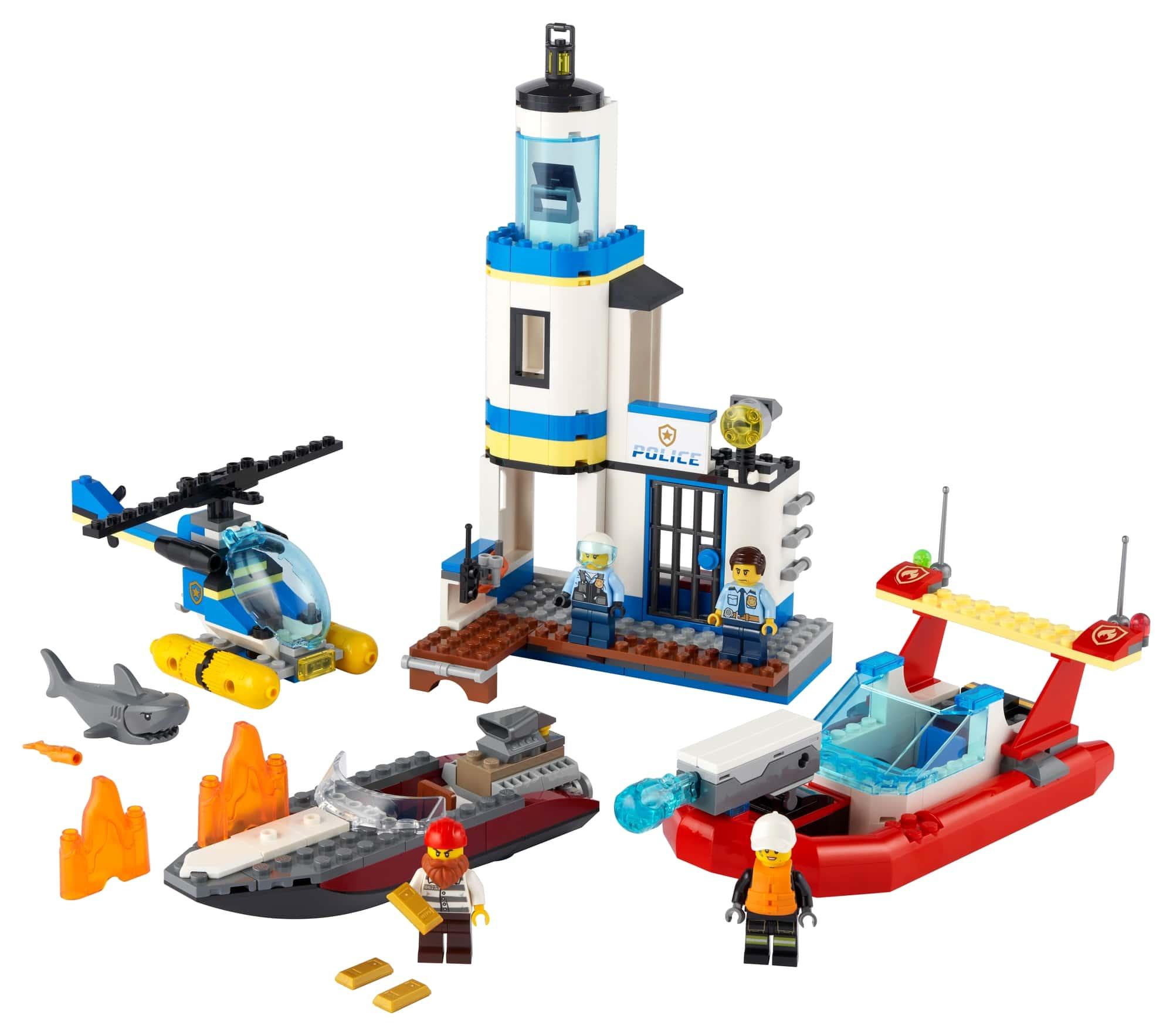 LEGO City 60308 Polizei Und Feuerwehr Im Küsteneinsatz 1