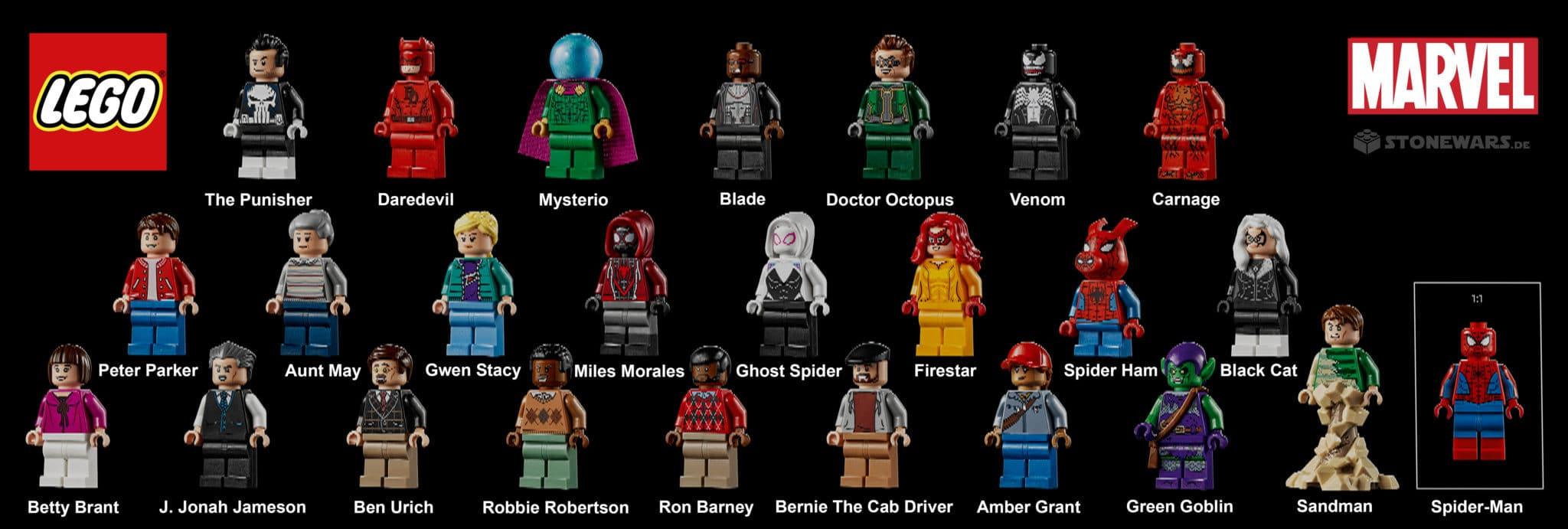 LEGO Daily Bugle 76178 Alle Minifiguren