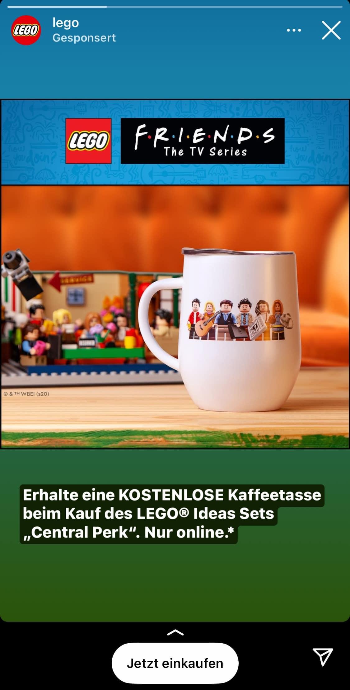 LEGO Friends Tasse Gratisbeigabe Werbung
