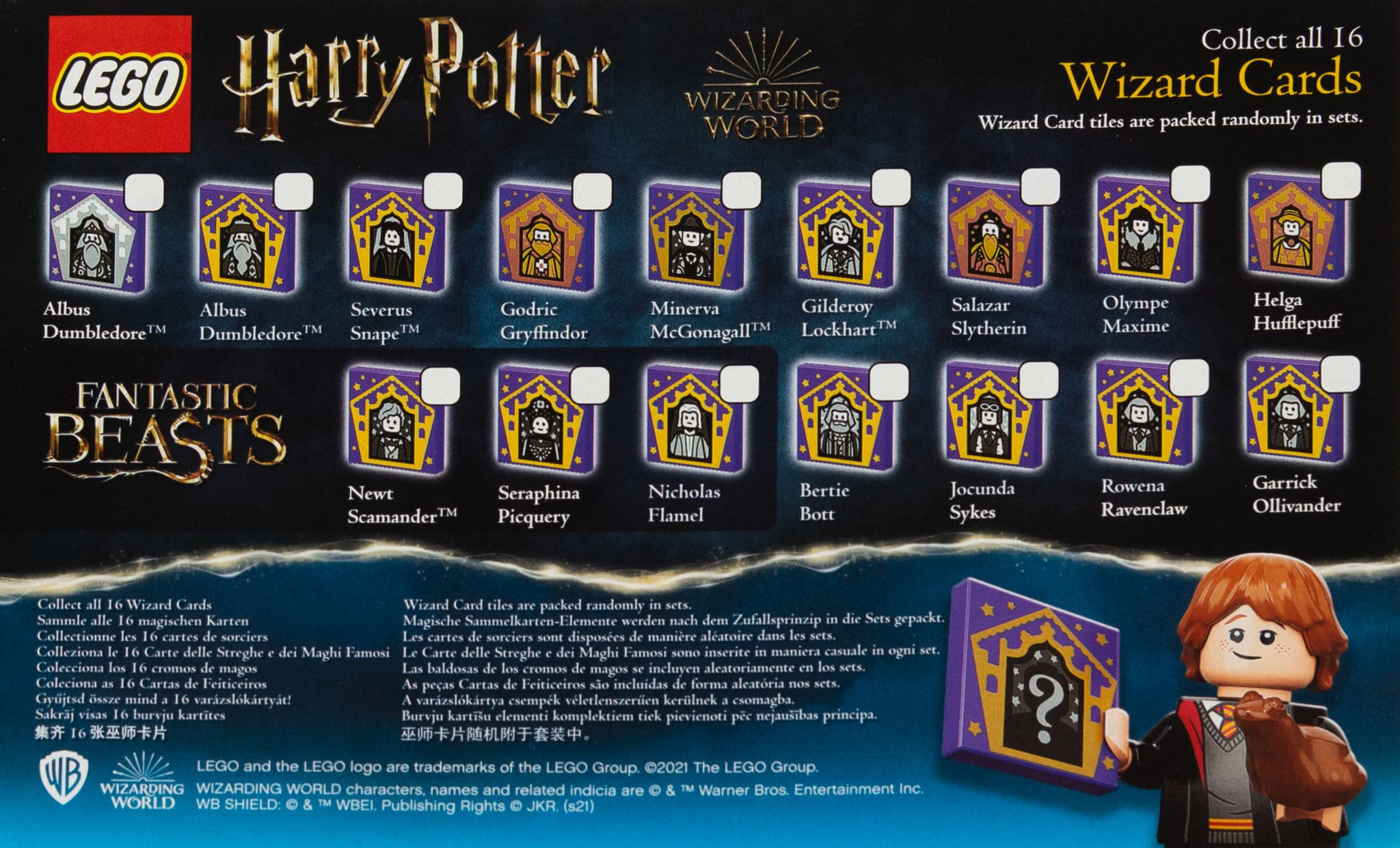 LEGO Harry Potter 2021 Zauberer Sammelkarten