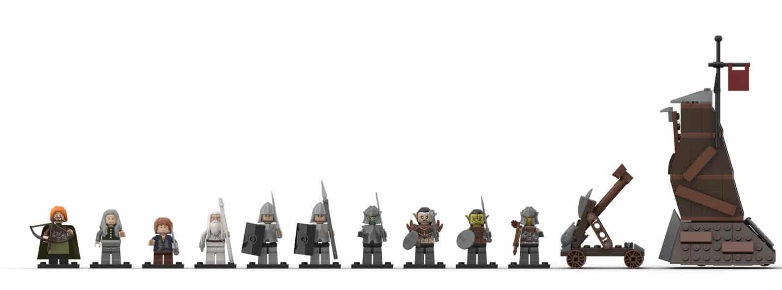 LEGO Ideas Minas Tirith (8) Klein