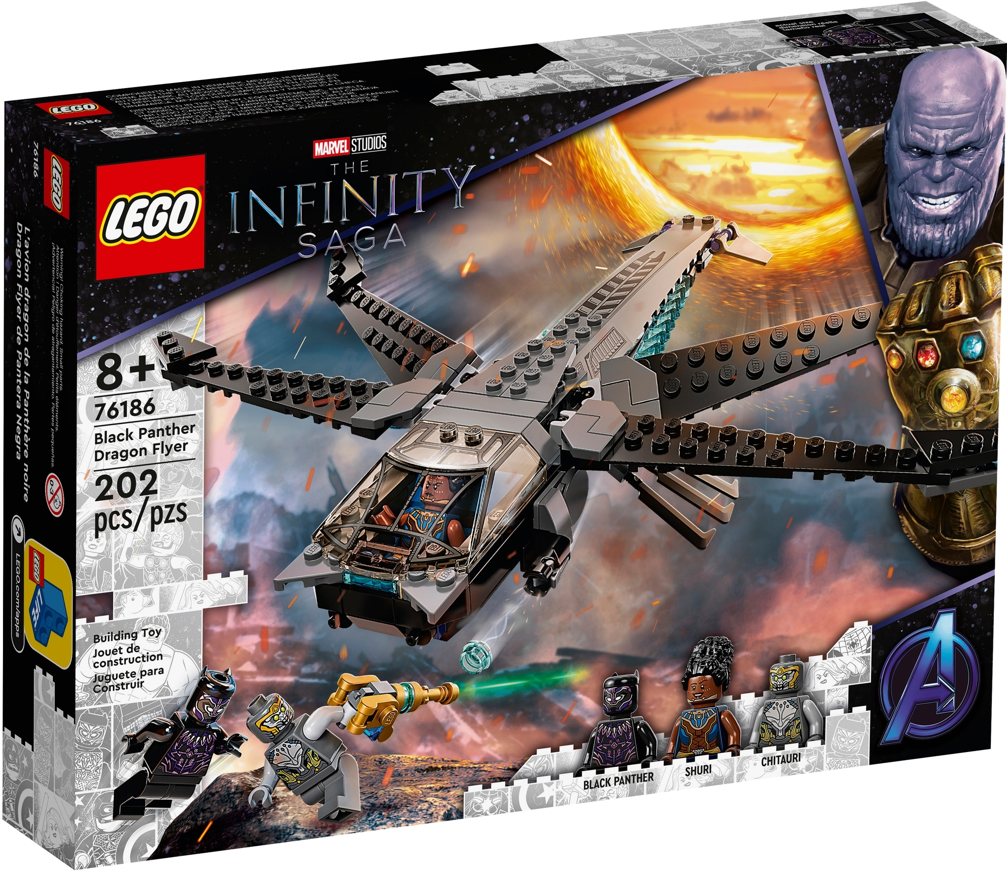 LEGO Marvel 76186 Black Panthers Libelle 2