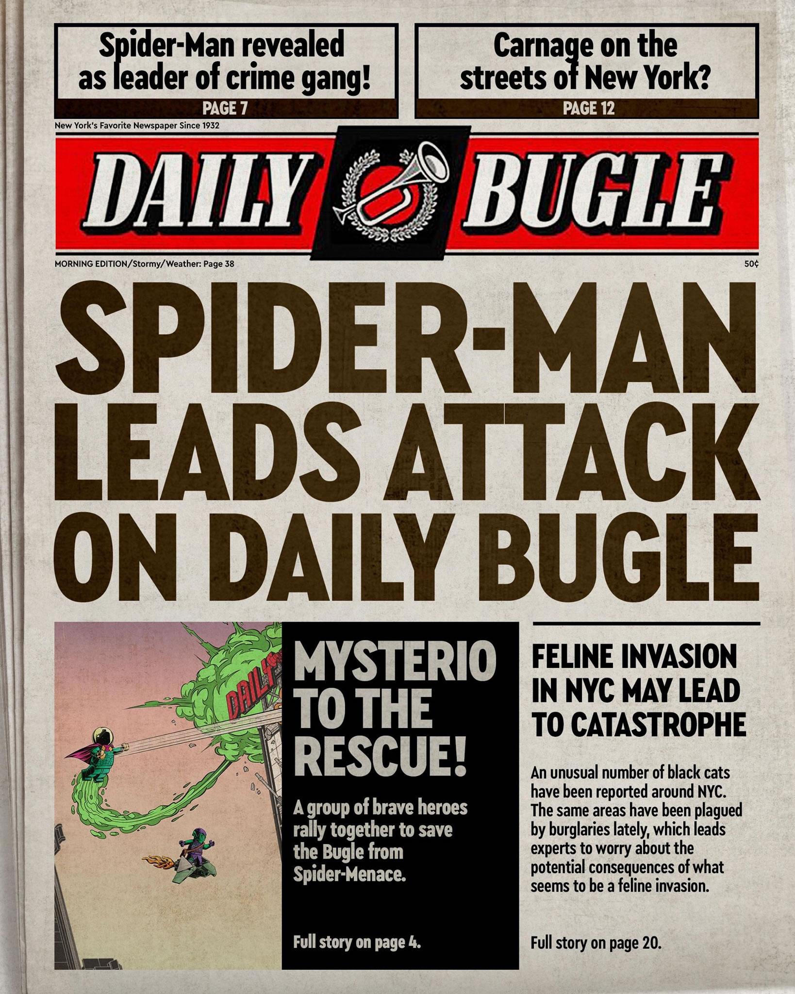 LEGO Marvel Daily Bugle Teaser