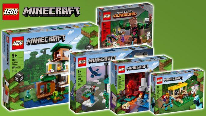 LEGO Minecraft 2021 Neuheiten Sommer Titelbild