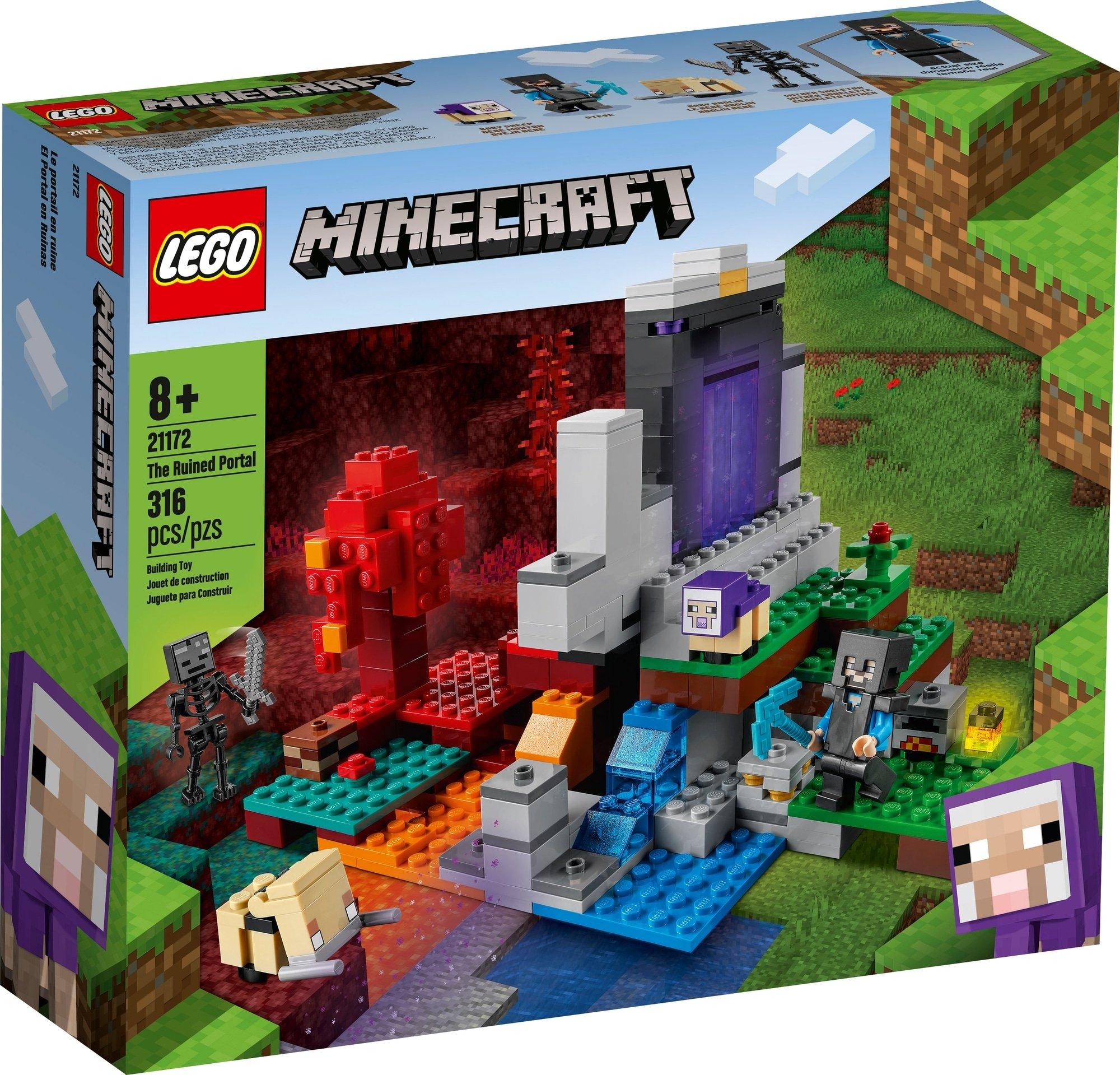 LEGO Minecraft 21172 Das Zerstörte Portal 2