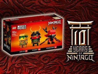 LEGO Ninjago 40490 10th Anniversary Brickheadz Titel