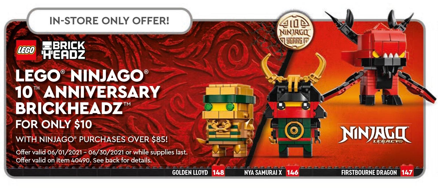 LEGO Ninjago 40490 Brickheadz