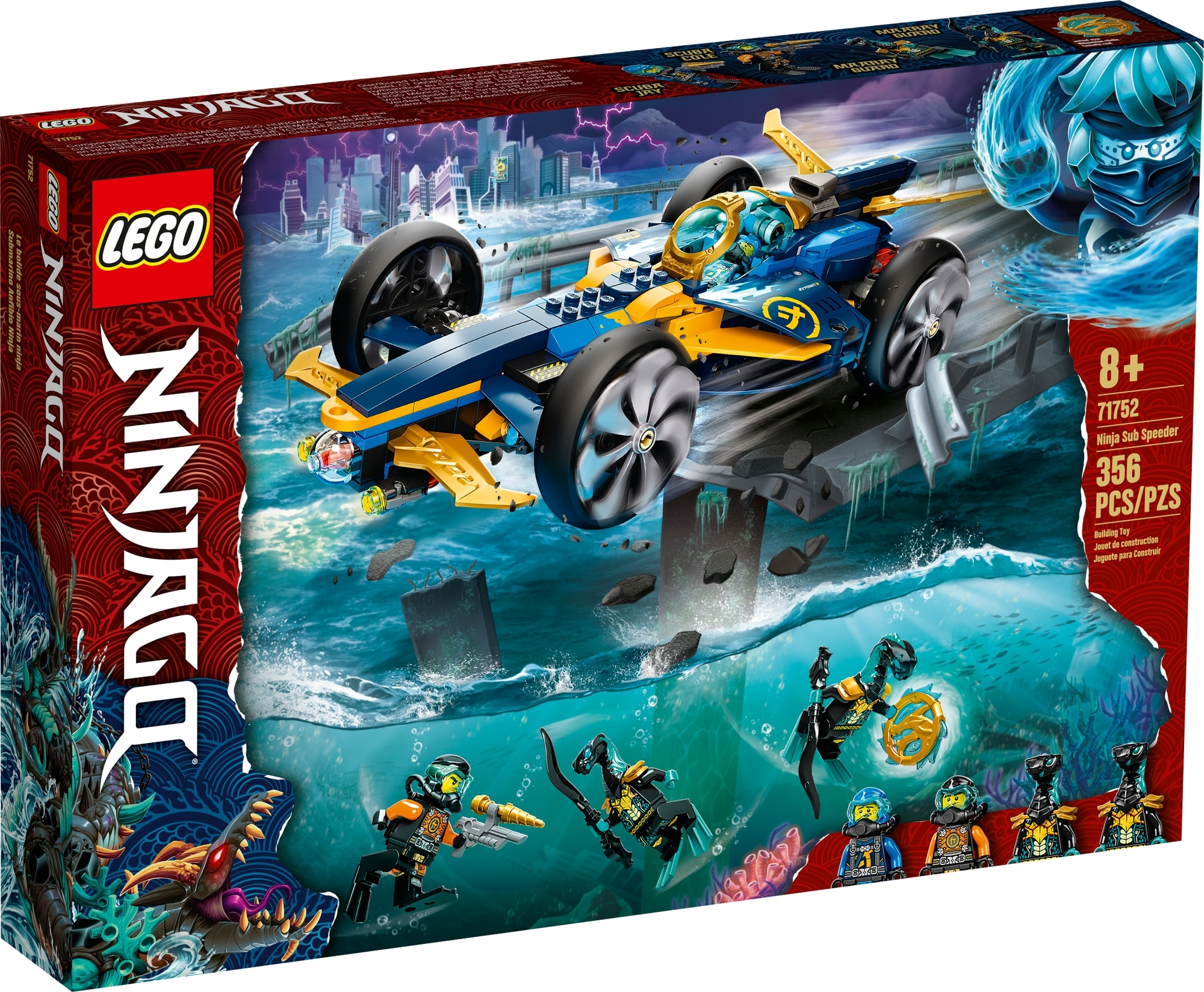 LEGO Ninjago 71752 Ninja Unterwasserspeeder 2