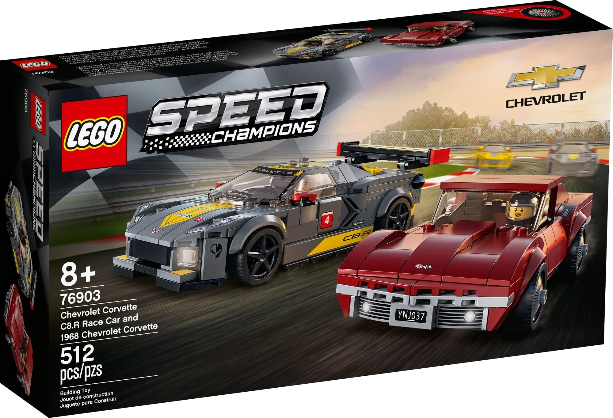 LEGO Speed Champions 76903 Chevrolet Corvette C8.r & 1968 Chevrolet Corvette 2