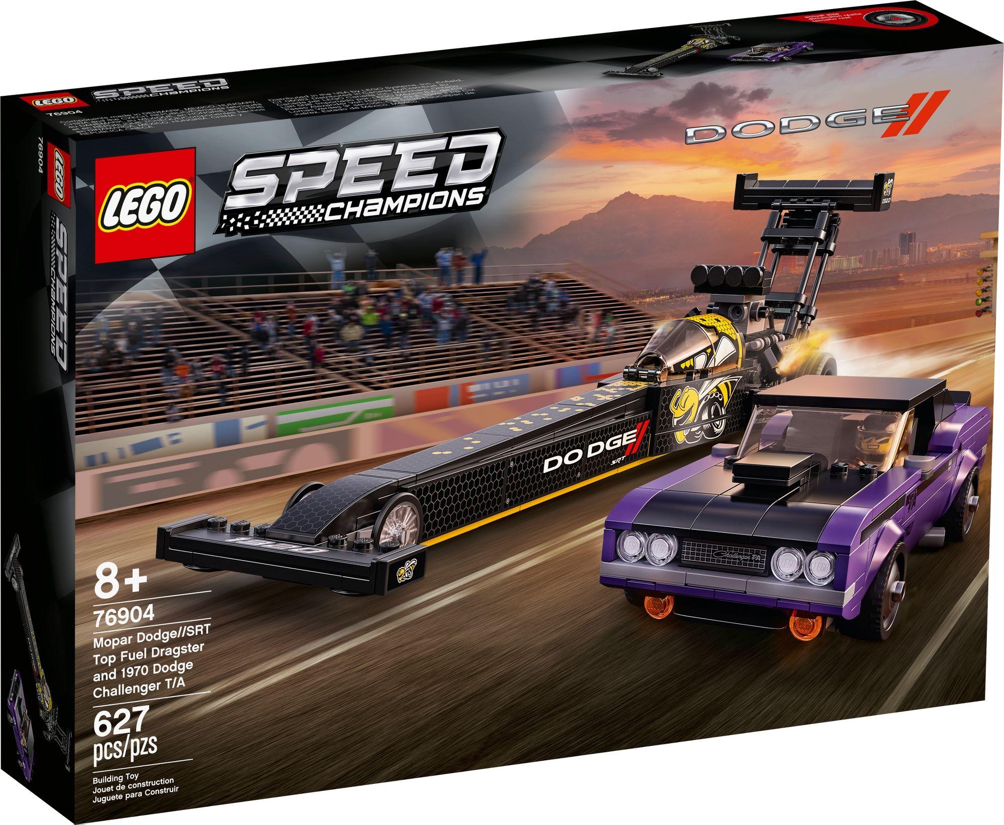 LEGO Speed Champions 76904 Mopar Dodge Srt Dragster & 1970 Dodge Challenger 2