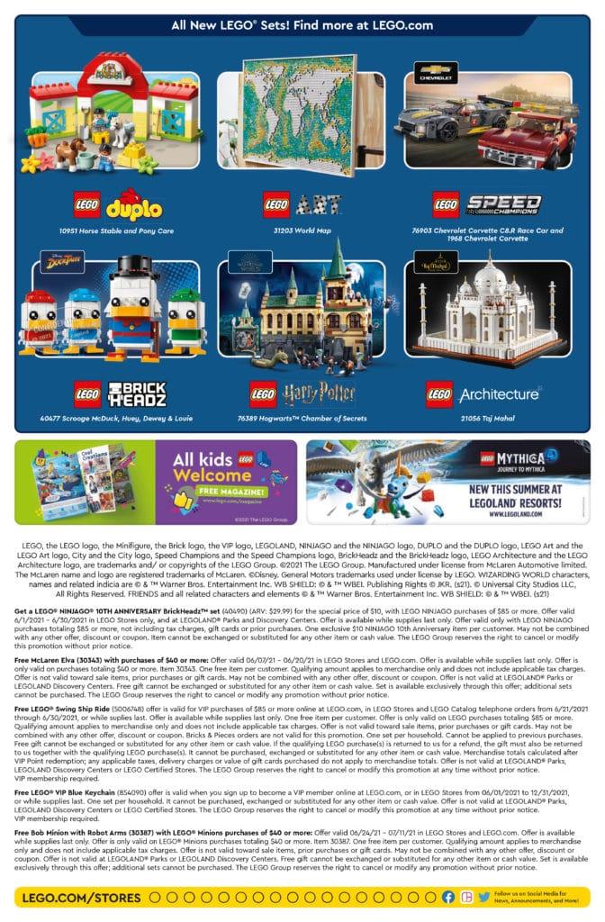 LEGO Store Flyer Juni 2021
