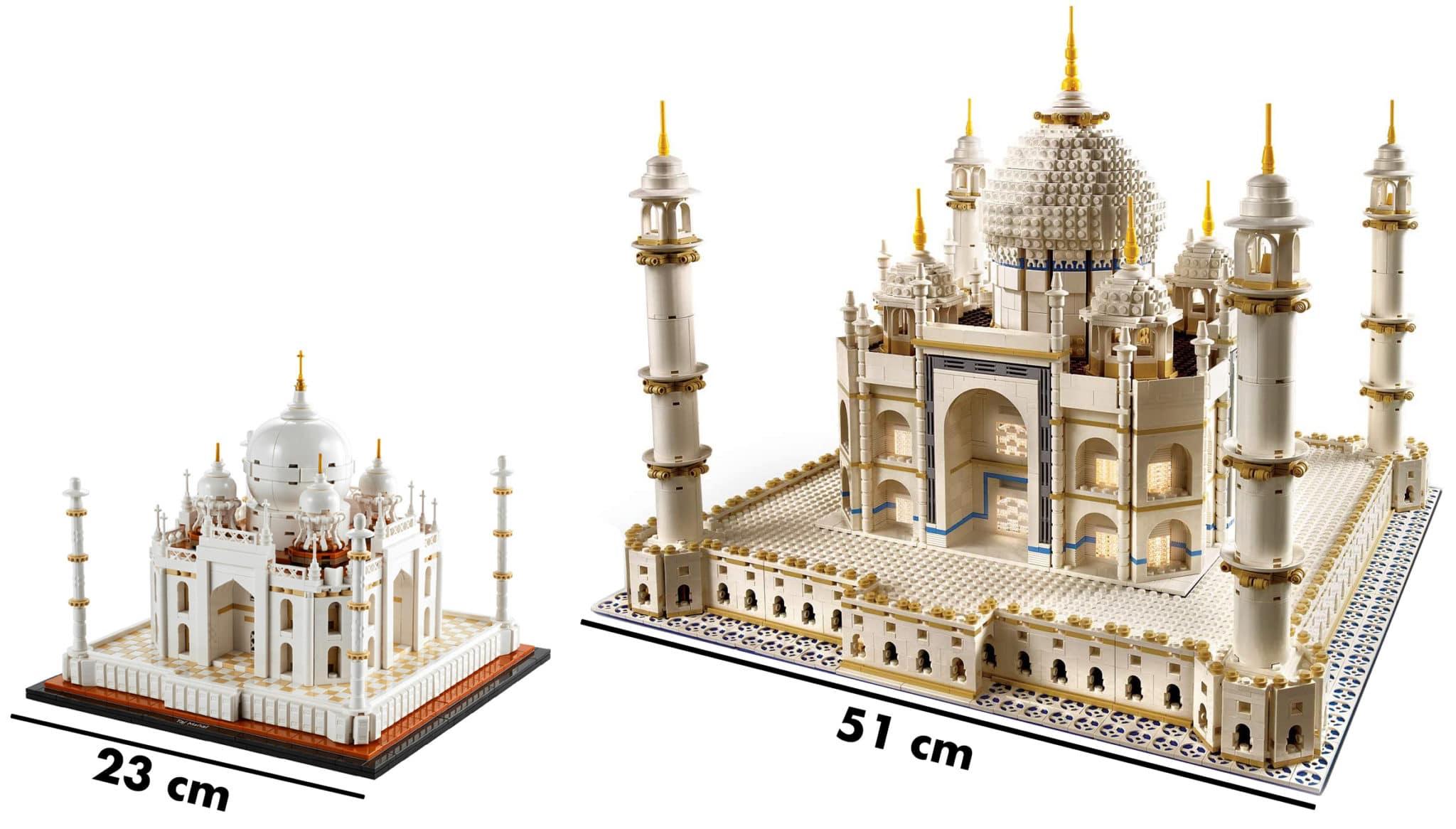 LEGO Taj Mahal Groessenvergleich