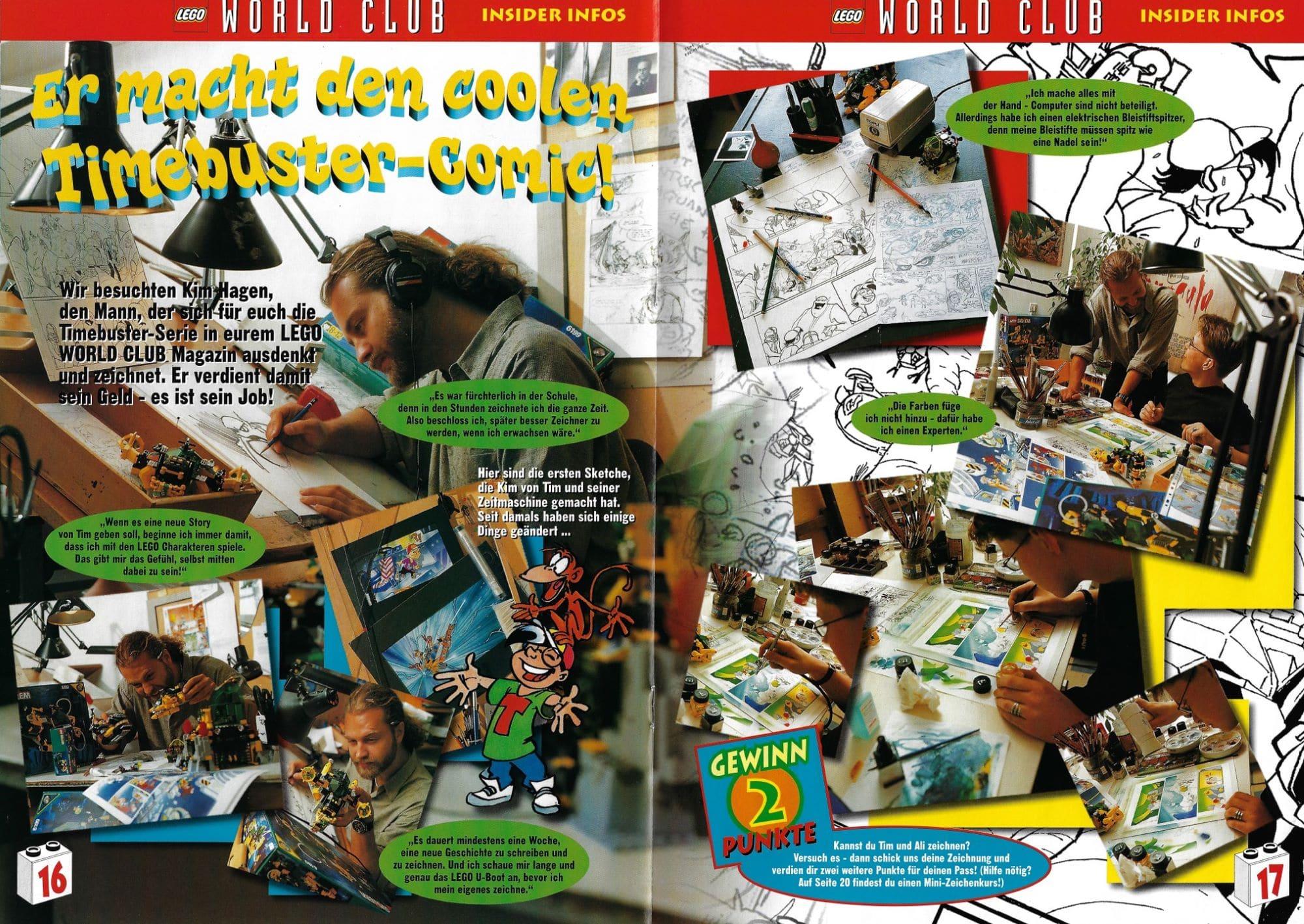 LEGO Time Cruisers Comic Zeichner World Club Magazin 1999
