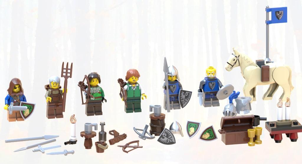 Bricklink Designer Program Castle In The Forest Minifiguren